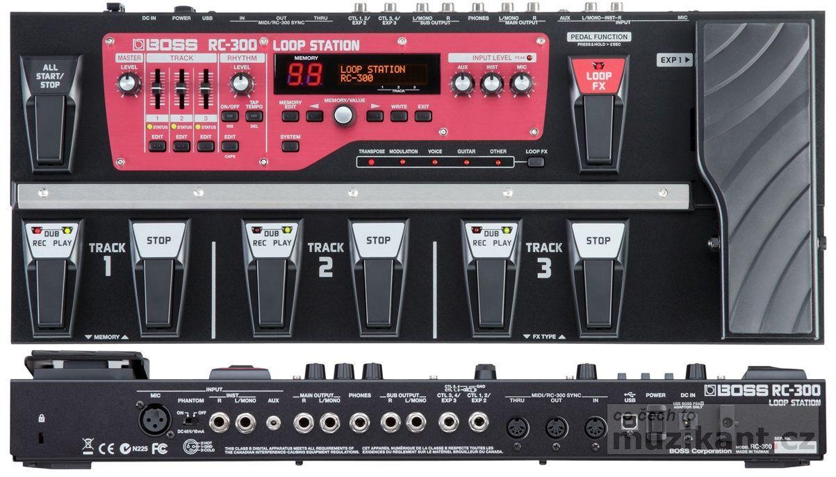 BOSS RC 300 - prodloužená záruka 5 let