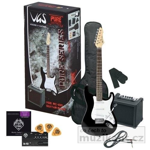VISIONS IN GUITARS RC 100 Guitar Pack Black - prodloužená záruka 3 roky