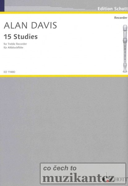 15 STUDIES for Recorder by Alan Davis