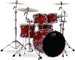 DW Shell set Performance Lacquer Candy Apple Red