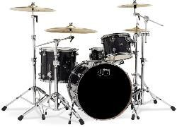 DW Shell set Performance Lacquer Ebony Stain